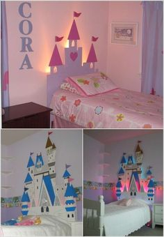 Lighted princess DIY headboards!