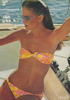 Julie Foster in Lilly Pulitzer for Vogue, 1978
