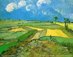 VV Gogh. The Plain of Auvers 1890