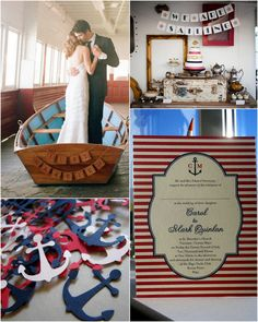 nautical wedding inspiration- the boat reminds me of phantom of the opera and I so want one.