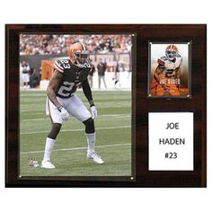 C and I Collectables NFL 15W x 12H in. Joe Haden Cleveland Browns Player Plaque - 1215HADEN