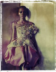 Another beauty from Cathleen Naundorf's book: HAUTE COUTURE - The Polaroids of Cathleen Naundorf