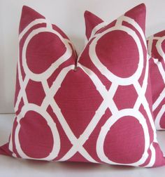 pink graphic pillow
