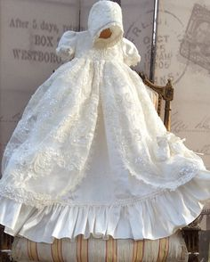 Cheap christening gowns, Buy Quality baby girls baptism directly from China baby girl baptism dresses Suppliers: 2016 Hot sale Lolita Christening Gown Handmade Baby Girl Baptism Dresses Lace Applique With bonnet Christening Gowns For Boys, Girls Baptism Dress, Baptism Gown, Christening Outfit, Baby Girl Dresses, Baby Girls, Flower Girl Dresses, Girl Baptism, Girl Toddler
