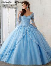 Vestidos de 15 anos debutante jurken lange coral jurken met mouwen goedkope jurken sweet 16 baljurken(China (Mainland))