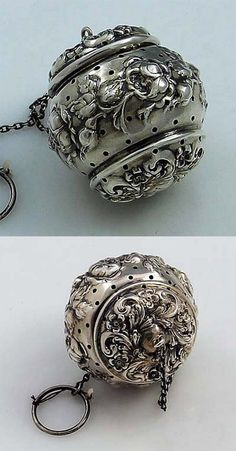 Sterling Silver Tea Ball I would wear it like JEWELRY