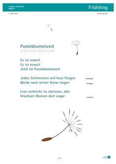Gedicht Pusteblumen Kita-Kiste Anett Kölpin