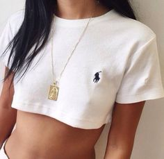 Casual Round Neck Short Shirt Tee Top Sweatshirt from IDS Book. #polo #top #simple #mystyle #sporty #shirt #tee #crop.