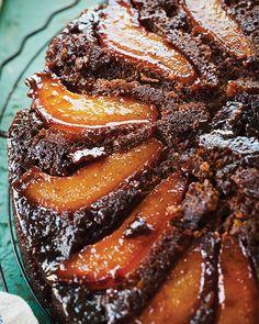 Pear Molasses Upside Down Cake -  #sweetpaul