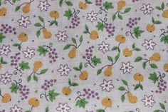 Vintage Apple Pear Fabric 36 inch width Cotton by binguspingusart