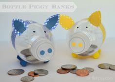 Here's a set of directions for making bottle piggy banks. These would be great when studying savings.
