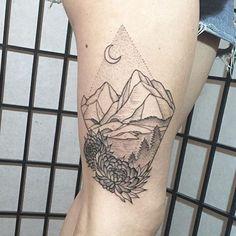 #chrysanthemum #mountain #mountaintattoo