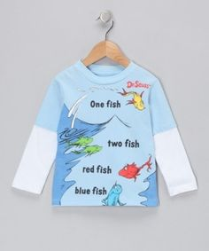 'One Fish Two Fish' Layered Tee from the Dr. Seuss Boutique on #zulily! by Olivi