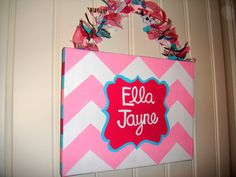 Chevron Custom Painted Canvas