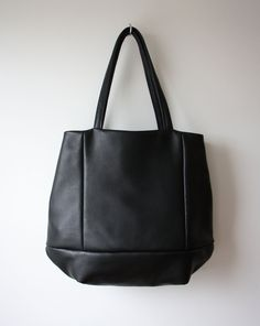 Large leather tote bag - OPELLE Meridan tote in soft Pebbled Leather. $278.00, via Etsy.