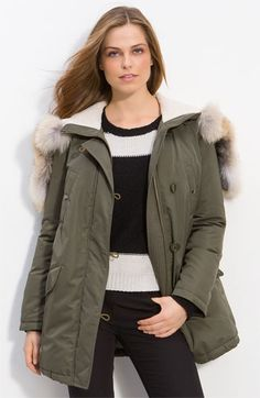 Theory 'Norberta - Past' Parka with Genuine Coyote Fur Trim | Nordstrom - StyleSays