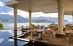St. Regis Princeville Makana Terrace, a Hawaiian-inspired restaurant serving breakfast, lunch and dinner.