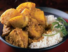 Burmese curry; recipe can be modified to feature other vegetables