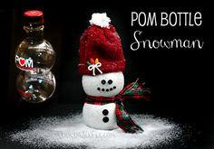 Pom Bottle Snowman Craft