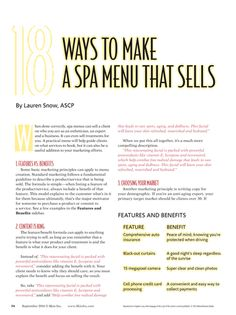 Skin Inc. magazine provides spa and wellness professionals in-depth business and - Business Plan - Ideas of Tips On Buying A House - Skin Inc. magazine provides spa and wellness professionals in-depth business and technical information on Massage Business, Salon Business, Business Goals, Business Ideas, Business Cards, Spas, Menue Design, Esthetician Room, Esthetician Supplies