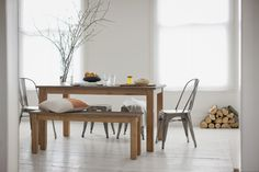 Karta Dining Table and Bench made from reclaimed teak by Trunk.