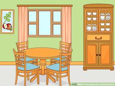 dining room cartoon table background elegant info rooms living