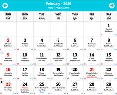 February 2020 Calendar With Holidays India In 2020 Hindu Calendar Calendar 2020 Hindi Calendar
