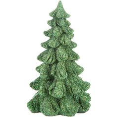 Green Glitter Christmas Tree Decor Small ($4.79) ❤ liked on Polyvore featuring home, home decor, holiday decorations, green home accessories and green home decor