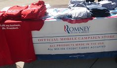 Campaign gear for sale at the Paul Ryan Rally in Lima, Ohio 9-24-12 #RomneyRyan2012
