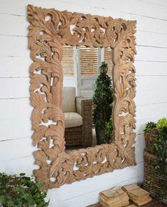 Specchio legno natural wood - Mobilia Store Home & Favours