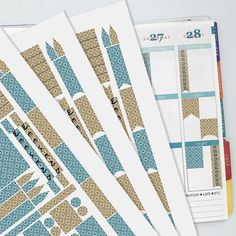 November Vintage Wallpaper Coordinating Planner Sticker Kit // Erin Condren Colors