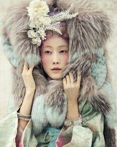 Hanbok from Vogue Korea...