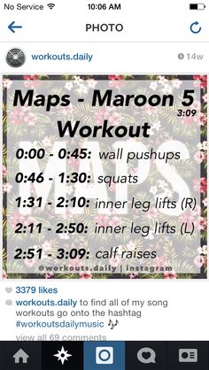 One-Song Workout - Maps