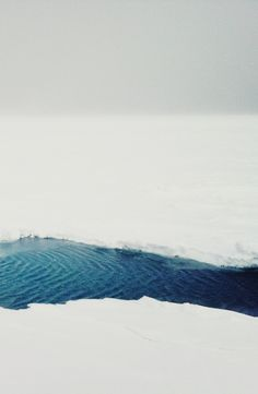 ice blue water in a snowy landscape snowy landscape | winter . Winter . hiver | Photo @ Tumblr |