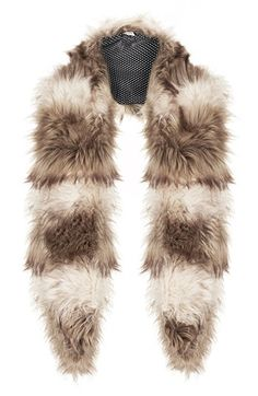 Topshop 'Shaggy Fur' Collar