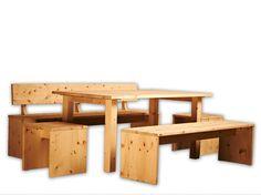 Diese #Sitzgruppe aus #Zirbenholz (oder #Arve) bekommt einen #Orden aus #Holz!