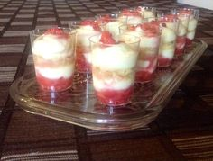 Strawberry tiramisu shots