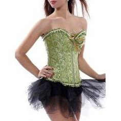 #trendsgal.com - #Trendsgal Ruffle Trim Lace Up Corset Top - AdoreWe.com