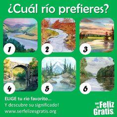 Imagina que tienes la posibilidad de viajar a uno de estos seis ríos. Las características del río que elijas (su paisaje, su forma, su...