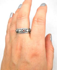 Genuine Garnet Sterling Silver Ring January by jewelrybymatt, $89.00