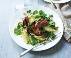 Lamb and roast fennel salad with hazelnuts and a maple dressing