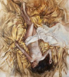 A goddess, enfolded in gilded silks
