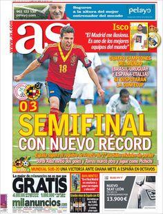Los Titulares y Portadas de Noticias Destacadas Españolas del 24 de Junio de 2013 del Diario Deportivo AS ¿Que le parecio esta Portada de este Diario Español?