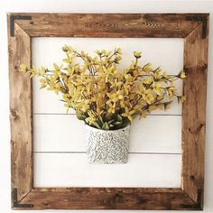 Calling all Fixer Upper fans! Love the rustic charm of shiplap, but dont want to add planks to an entire wall? Add character, texture, and farmhouse style to any room with this piece. Lightweight and easy to hang, this rustic framed shiplap can be left bare, or fancied up with a wreath, basket, sign, mirror, or whatever you want! The possibilities are endless! Change out the decor for the season! Each piece has individual wood graining and characteristics, making them unique. 28x 28…