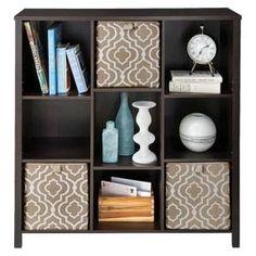 ClosetMaid Decorative 9-Cube Organizer with Adjustable Shelves - Black Walnut