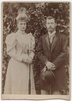 Tsar Nicholas II (18 May 1868—17 July 1918) and Alexandra Feodorovna (6 June 1872—17 July 1918). Photographer unknown.