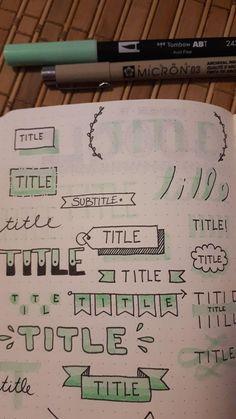 Idead Ball Newspaper Title – bullet-journal-ideas – … - My Great Pins