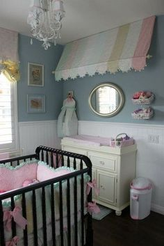Shabby Chic Nursery - love the awning idea