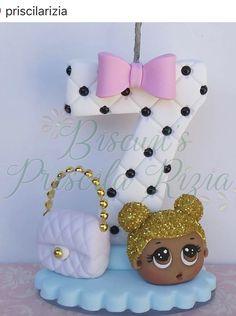 Vela de cumpme 3d Cake Tutorial, Fondant Numbers, Polymer Clay Disney, Ballerina Cakes, Baby Birthday Cakes, Fondant Decorations, Fondant Icing, Cake Business, Clay Baby