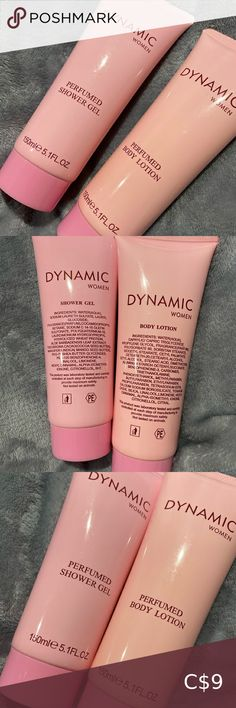 Dynamic women body lotion and shower gell dynamic women body lotion and shower gel Of course never used Brand new Makeup